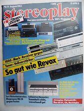 STEREOPLAY 8/84.FOSTEX GZ 2001 gegen MAGNEPAN MG 3,BURMESTER 838,846,DBX 3 BX II