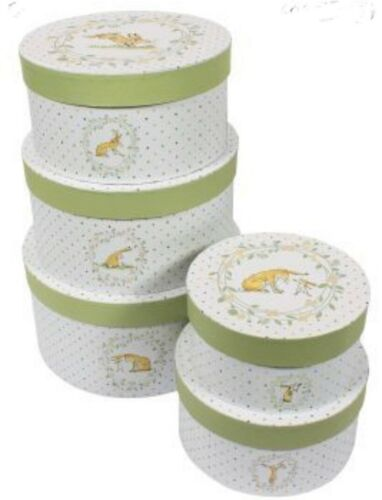 How Much I Love You Set 5 Nesting Boxes Baby Cute Rabbit Gifts Storage Easter BN