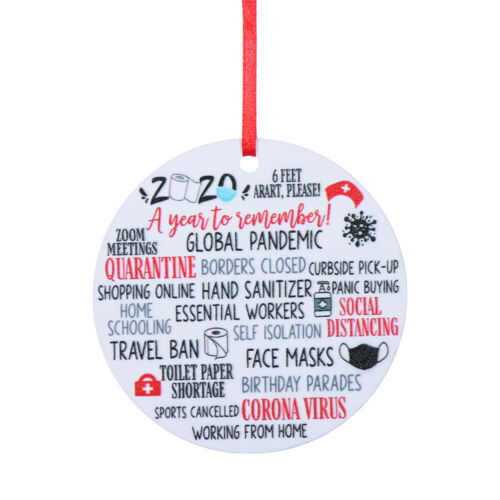 Family Bauble 2020 Pandemic Annual Events Hanging Tags Major Events Plaque