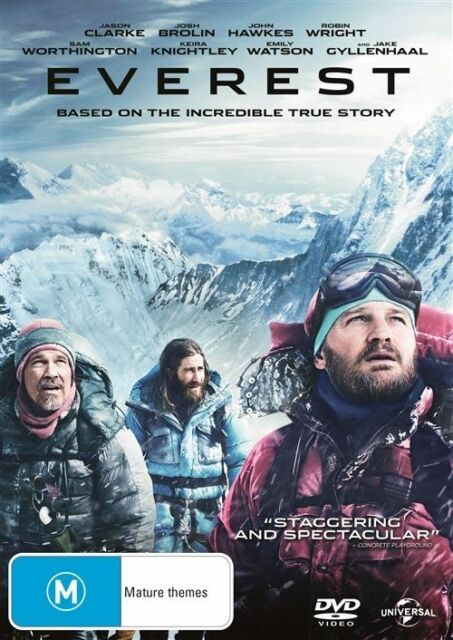 EVEREST, DVD, NEW & SEALED, 2016 RELEASE, REGION 4