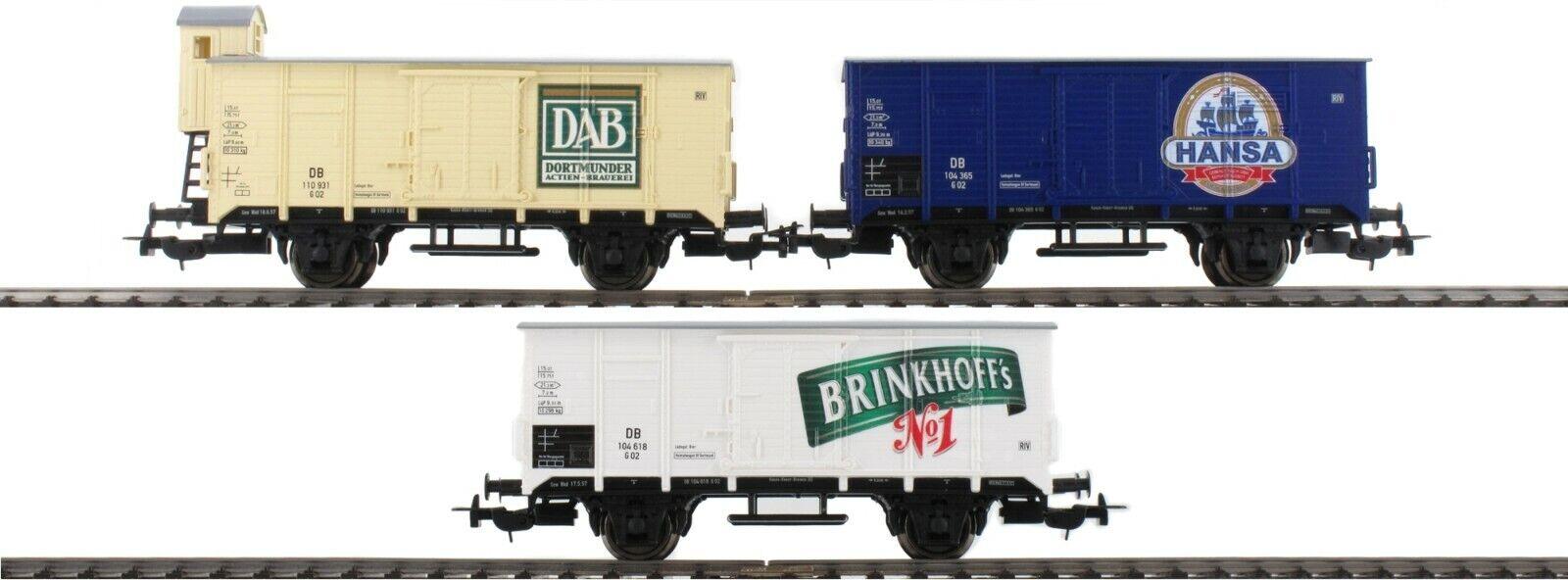 PIKO HO 58357  3pc Beer Car Set Brauereien aus NRW