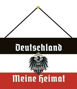 Germany-Meine-Heimat-Shield-with-Cord-Metal-Tin-Sign-7-7-8x11-13-16in-CC0547-K