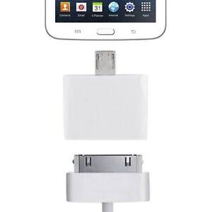 Kabel & Adapter Bescheiden Micro Usb Adapter Auf Apple 30 Pin Für Alle Smartphone Und Tablet Micro Usb