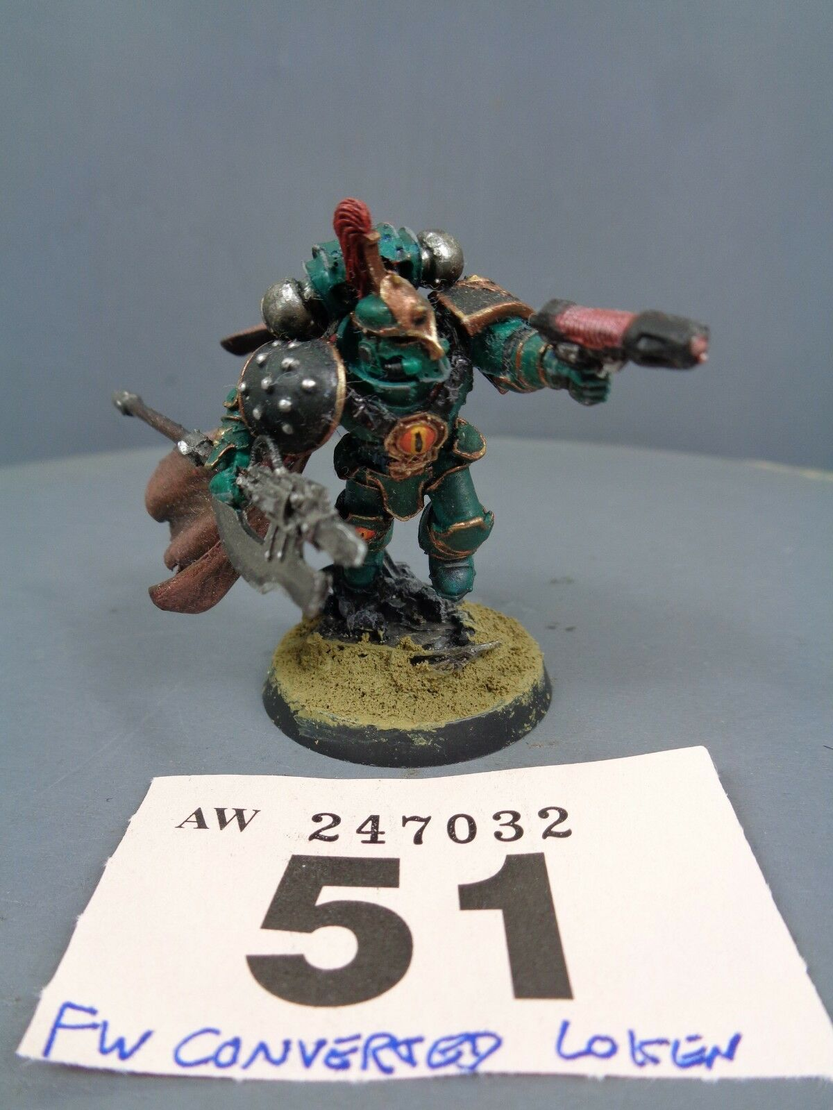 Warhammer Space Marines Forge World Sons of Horus Commander Congreened Loken 51