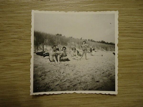 """""""ddr"""": Alte Sw-fotografie, Sw-foto, 50/60-er Jahre, Ostsee, Reise, Badeurlaub!"""
