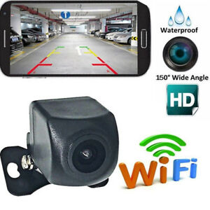 150-WiFi-Wireless-Car-Rear-View-Cam-Backup-Reverse-Camera-For-iPhone-AndroU-JO