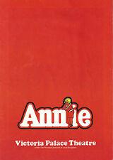 "Andrea McArdle ""ANNIE"" Sheila Hancock / Charles Strouse 1978 London Program"