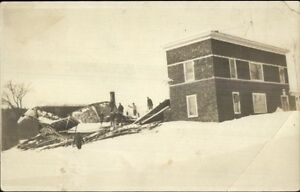Farmington-ME-Postal-Cancel-Destroyed-Skating-Rink-c1920-Real-Photo-Postcard