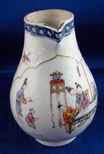 Rare 18thC Chinese Export Porcelain Scenic Creamer Porzellan Scene Kanne China