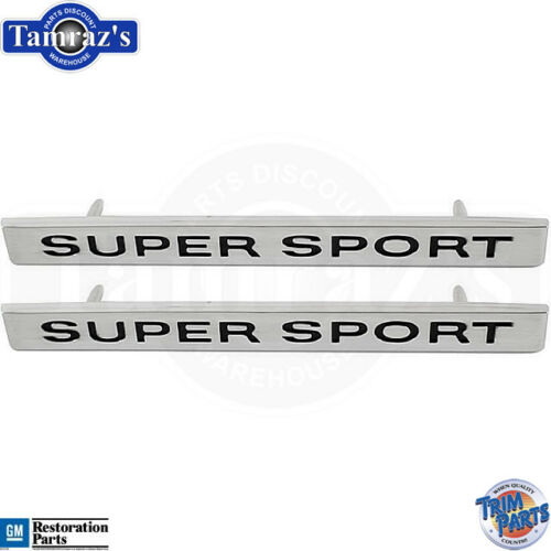"""1968 Chevrolet Chevy Impala SS /"""" Super Sport /"""" Front Fender Emblems Made in USA"""