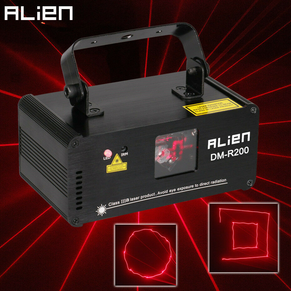 ALIEN DMX512 rot 200mW Laser Light Professional Stage Lighting Systerm