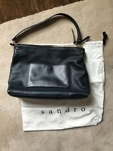 3bad011a01 Image is loading Sandro-Paris-Bianca-Tote-Bag-Marine