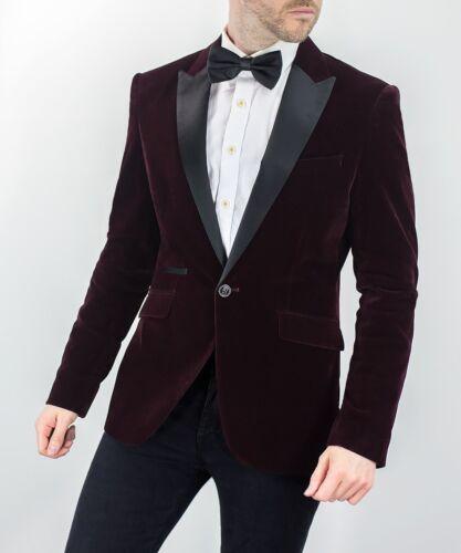 intelligente Wine formale Giacca da Collar Tuxedo Blazer Kingsman Velvet Mens Cavani pranzo 71xqPwW4