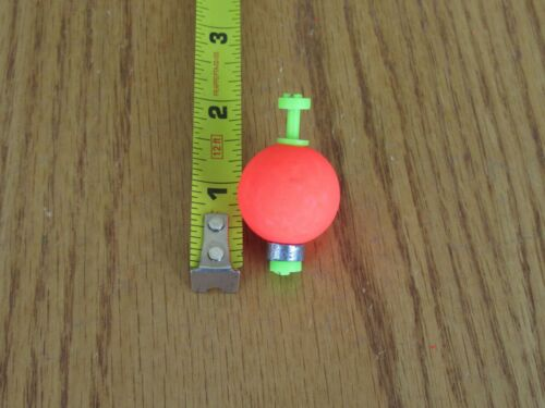 """24  1/"""" FISHING BOBBERS Round Weighted Floats Flo Red Foam SNAP ON FLOAT"""