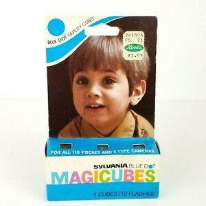 Sylvania Blue Dot Magicubes Camera Flash Cubes 3-Pack 12 Flashes NEW OLD STOCK