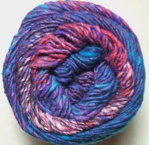 Noro-Kagayaki-1-Lote-a-Lana-Algodon-Ovillo-de-Seda-Azul-Orquidea-Rojo-Purpura