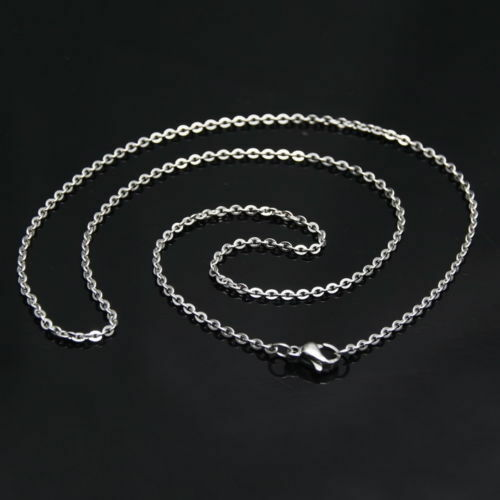 """2mm20/"""" New Fashion Womens Silver Stainless Steel Strong Rolo Chain Necklace 1pc"""