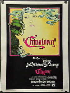CHINATOWN Movie Poster 1974 Jack Nicholson Roman Polanski