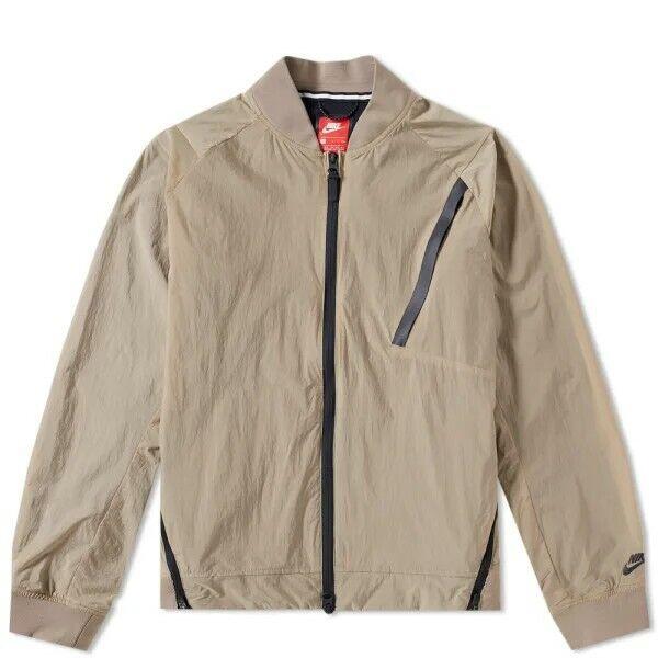 Nike Tech Pack Hypermesh Varsity 'Khaki' Jacket 832190-235 Men's Size Large