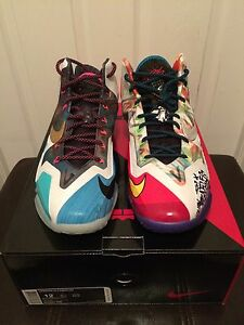 sports shoes 0ebce f9c93 Image is loading Nike-Lebron-XI-11-Premium-What-The-Lebron-