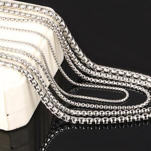 Halskette-Erbskette-Edelstahl-304-Damen-Herren-2-5-mm-45-70-cm