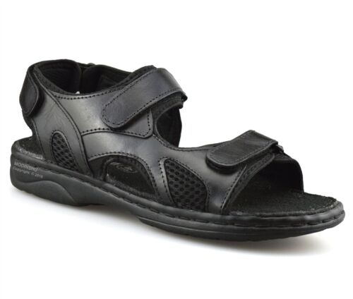 Mens Leather Hiking Walking Summer Beach Mules Sports Trekking Sandals Shoe Size