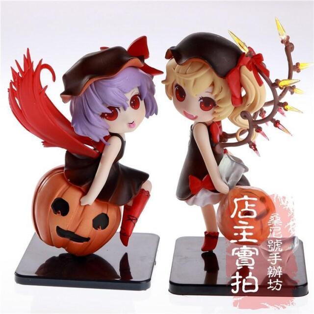 2pcs TouHou Project Remilia Flandre Scarlet Q Ver. PVC Figure Anime Model Toy