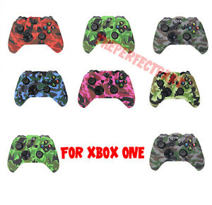 Camo-Silicone-Rubber-Skin-Case-Gel-Cover-Grip-For-Xbox-One-Wireless-Controller