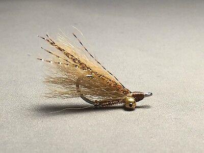 6 Fly MULTI-PACK Bonefish Saltwater Flies Pink Gotcha
