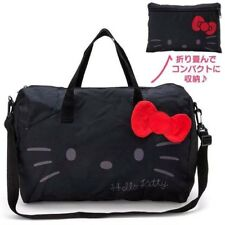 8c9c2fd687c Beautiful Hello Kitty Face Boston Black Folding Travel Carry Shoulder Bag  Sanrio