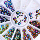 3D Nail Decoration Wheel Glitter Rhinestones Nail Art Colorful Studs Decoration