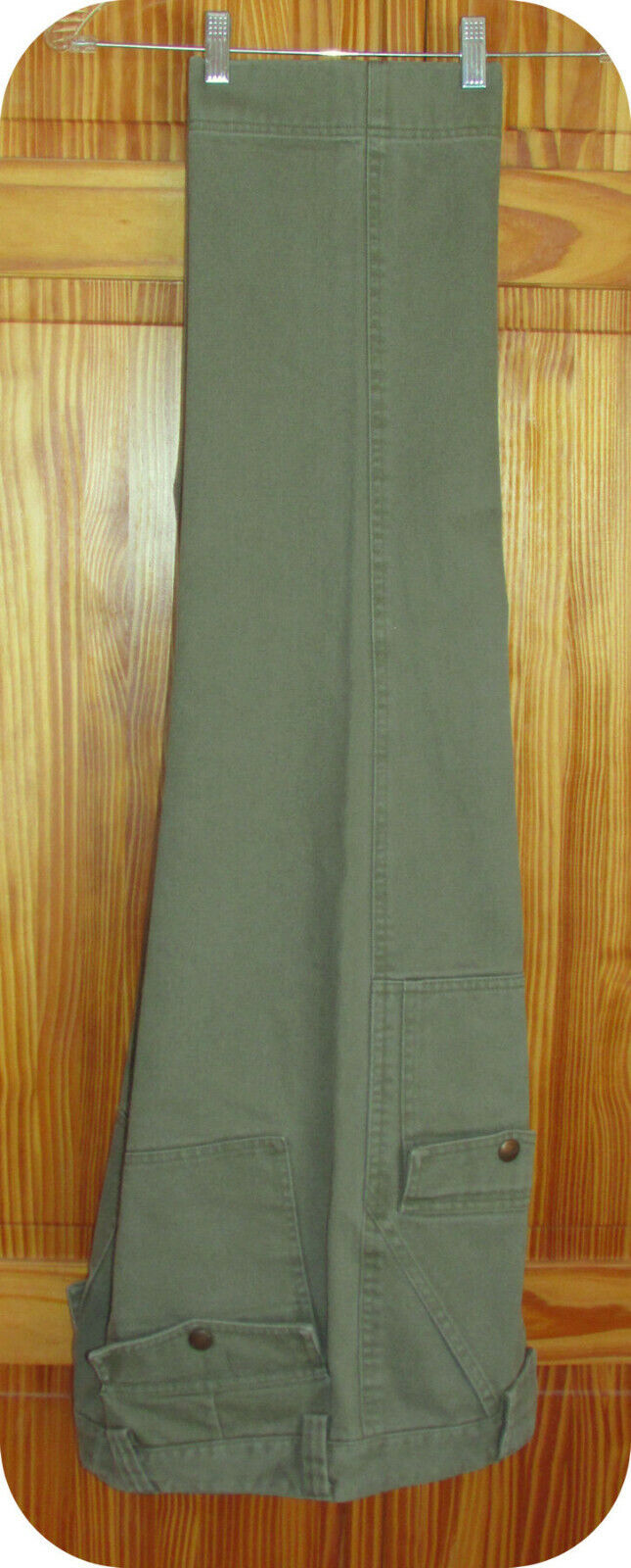L.L. Bean Men's Signature FireHose Jeans 35x30 Olive Green 100% Cotton