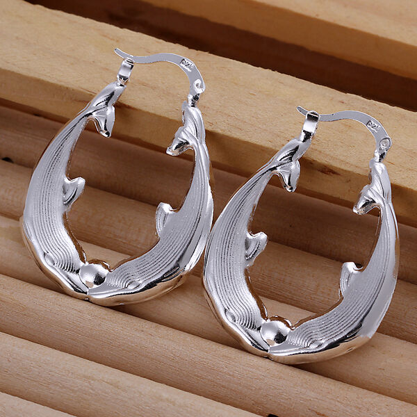 Punk Style 925Sterling Silver Women Jewelry Star Beads Circle Dangle Earrings