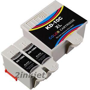 3 PacK Kodak 10 10B 10C Compatible Ink Cartridge Fits EASYSHARE 5100 5300 5500