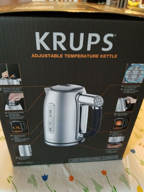 KRUPS Adjustable Temperature Kettle BW710D51 TEA & COFFEE 6 Presets NEW in Box