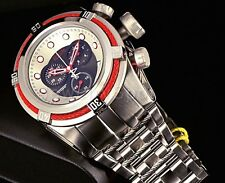 Invicta Reserve Bolt ZEUS Swiss Chronograph Black Dial RED CABLES Bracelet Watch