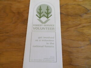 Forest-Service-Volunteer-Guide-Pamphlet-Circa-1974-Free-Domestic-Shipping