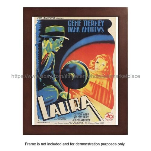 """1944 Laura movie poster 8x10/"""" print hanging wall decor"""