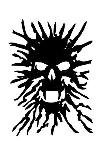 High Detail Smoke Skull Airbrush Stencil Free UK Postage