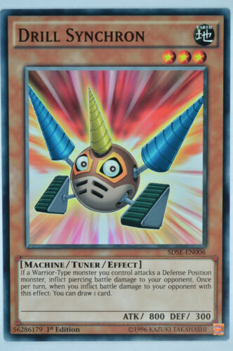 YuGiOh Structure Deck Synchron Extreme  SDSE 1st Ed Common cards 1 or 3 card set