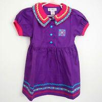 Vintage Gymboree Toddler Girls Size Medium Retro Dress Purple Deadstock
