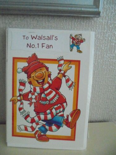 To Walsall/'s No.1 Fan Birthday card /& envelope The Saddlers Bescot Football Card