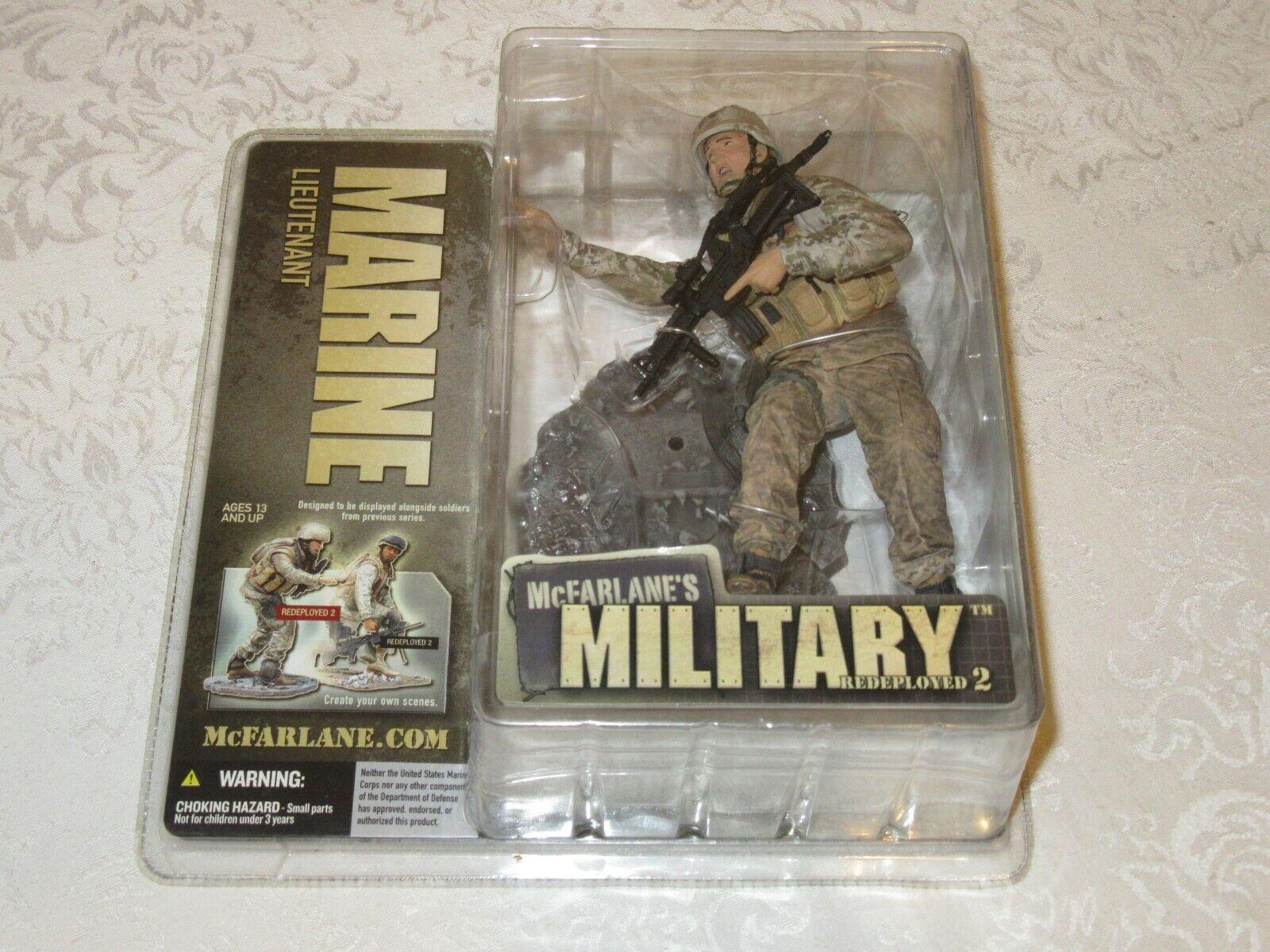McFarlane's Military rossoeployed Series 2 Marine Lieutenant Action Figure