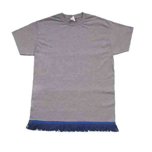 Starting at $12.99 Dark Grey Tshirt With Navy Fringe