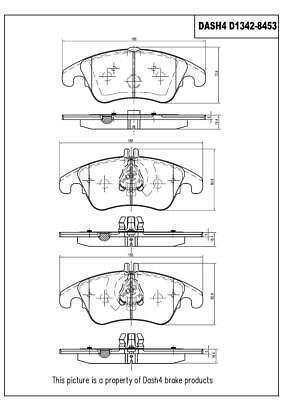 Disc Brake Pad Set-Ceramic Pads Front Dash 4 Brake CD1342