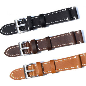 Unisex-Genuine-Leather-Watch-Wrist-Band-Strap-Replacement-18-19-20-21-22-23-mm