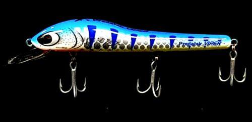 FISHING LURE PREDATEK VIPER BARRA BLUE 140//28g CAST OR TROLLIN 4 M DIVER