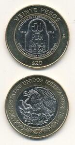 Mexico-Mexico-20-Pesos-2016-UNC-Bimetal-Commemoration-issue