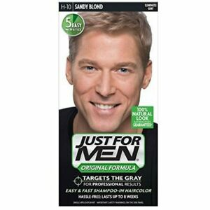 4da74f50e Details about JUST FOR MEN Hair Color H-10 Sandy Blond 1 ea (Pack of 6)