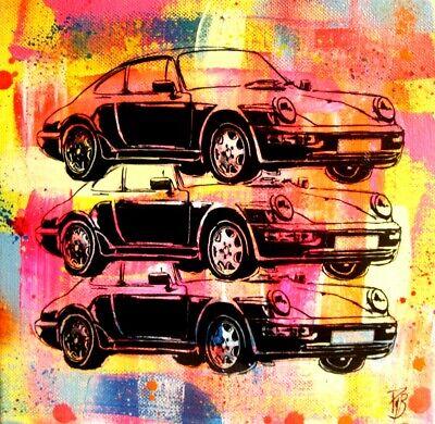 porsche 911 TABLEAU pop street ART peinture
